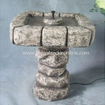 28-inch Garden Fountain, Made of Fiberglass, Lightweight and Durable from China