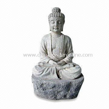 31.5-inch Light/Durable Garden Fountain, Made of Fiberglass, Various Colors are Available