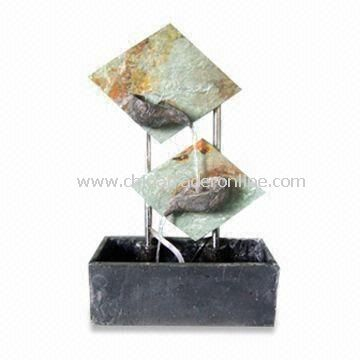Desktop Fountain with Stone, Available in Different Designs