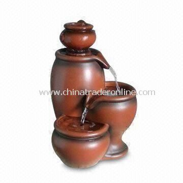 Durable Jar Table Fountain with 11.8-inch Height, Suitable for Indoor Use