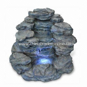 Fountain, Fits for Outdoor/Indoor Use, Made of Polyresin and Fiberglass