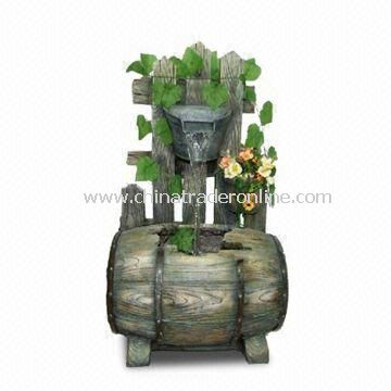 Fountain Made of Polyresin and Fiberglass Material, Fits for Outdoor or Indoor Decoration