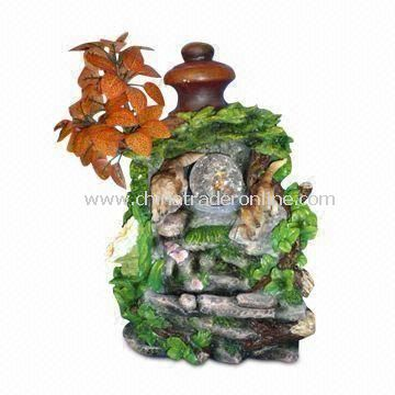 Fountain with Filter-cleaned Water, Suitable for Outdoor Use, Made of Polyresin and Fiberglass