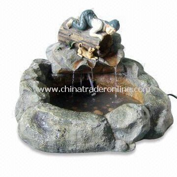 Garden Fountain, Made of Fiberglass, Light and Durable, Customized Designs are Accepted