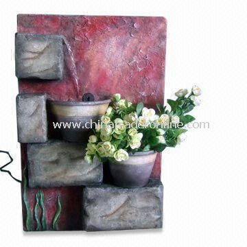 Garden Fountain, Made of Fiberglass, Various Colors are Available