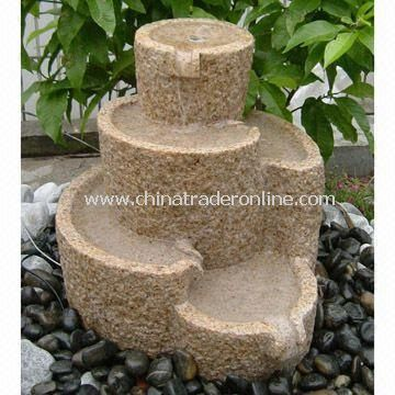 Garden Fountain for Outdoor Decorations with Bush Hammered Finish