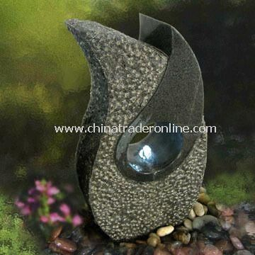 Granite Wall Fountain with Pump and Transformer, Available in Customized Heights