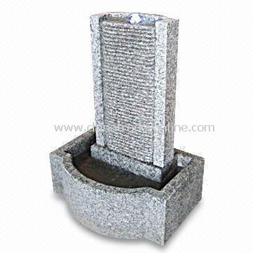 Granite Wall Fountain with Stone Basin, Available in Different Designs