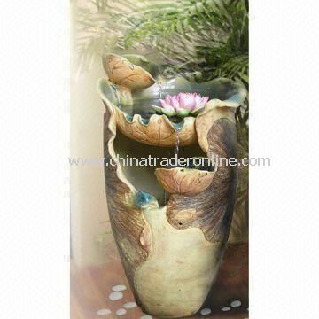 Handmade Fountain in Lotus Fairy Shape, Elegant and Delicate, Made of Ceramic