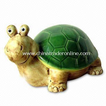 Large Ceramic Spring Turtle, Suitable for Table Decoration