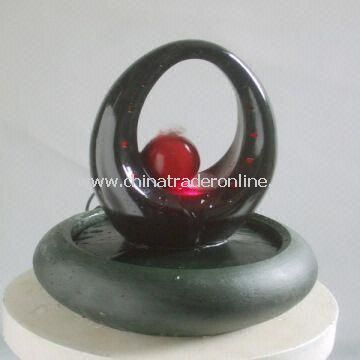 Light and Durable Desktop Fountain with LED and 11.5-inch Height. Available in Different Designs