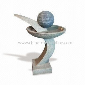 Light and Durable Outdoor Fountain, 35.5-inch Height, Available in Different Designs