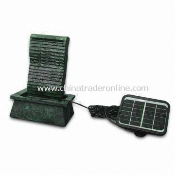 Polyresin Solar Fountain, Measuring 18 x 12 x 26cm, with 6V/200mA Monocrystalline Solar Panel