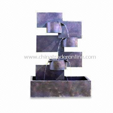 Rust Wall Fountain, Made of Metal, Available in Different Designs