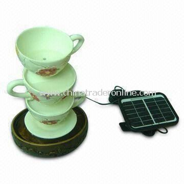 Solar Fountain with Monocrystalline Solar Panel, Measuring 18 x 15 x 27cm