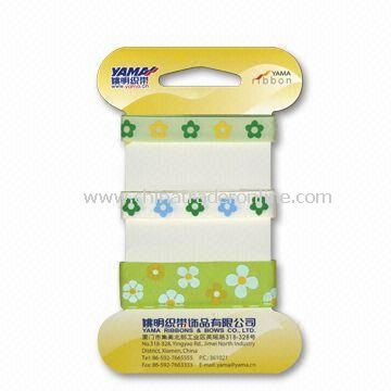 Spring Printed Satin Ribbon, Suitable for Decoration, Customized Colors are Accepted