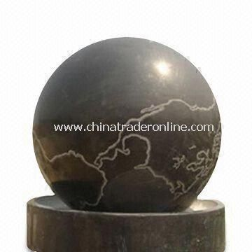 Stone Ball Fountain, Available in Various Sizes and Colors, Suitable for Outdoor Decoration