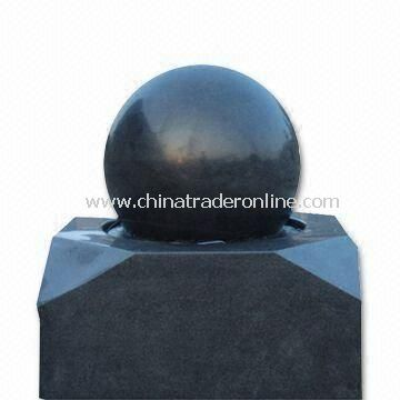 Stone Ball Fountain in Various Sizes and Colors, Suitable for Outdoor Decoration