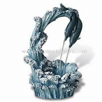 Tabletop Fountain, Made of Fiberglass, Available in Various Colors