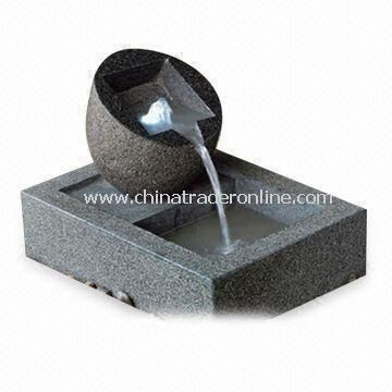 Tabletop Fountain, Made of Fiberglass and Granite, with Marble Finish, Suitable in Offices