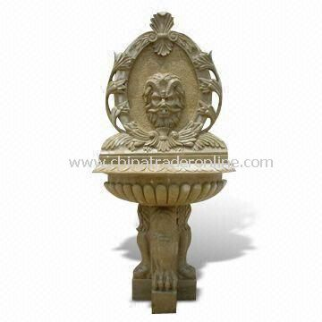 Wall Fountain with Carving Stone, Suitable for Garden