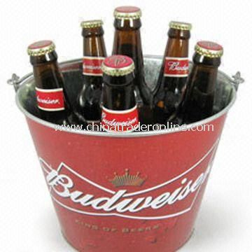 5L Ice Bucket, Made of 0.30mm Galvanized Metal, Various Colors are Available