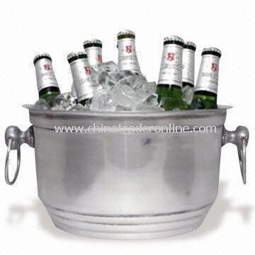 Beer Ice Bucket, Made of Plastic Material, Customized Logo Printings Welcomed