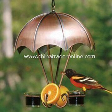 Bird Feeder, Made of Iron and Cups, Suitable for Holding Bird Drinking Water and Garden Decoration