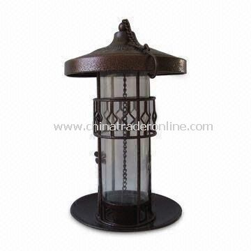 Bird Feeder, Made of Iron and Net, Available in Black, Suitable for Garden Decoration
