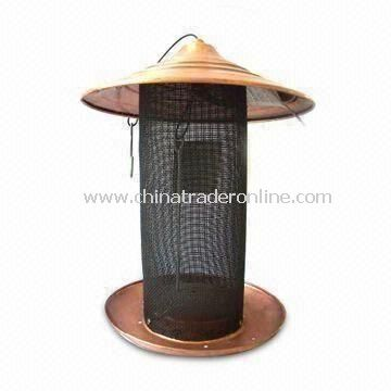 Bird Feeder, Made of Iron and Net, Suitable for Garden Decoration, Measures 280 x 365mm