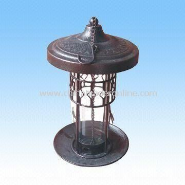 Bird Feeder, Made of Iron Material, with Baked Varnish Surface, High Quality, RoHS Compliant