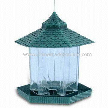 Bird Feeder, Made of Plastic, Available in Various Sizes and Colors
