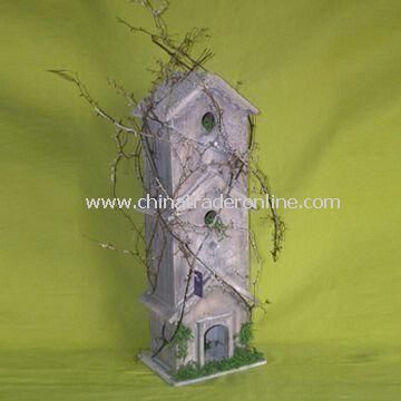 Bird House, Made of Wood, OEM and ODM Orders are Welcome, with RoHS Compliant
