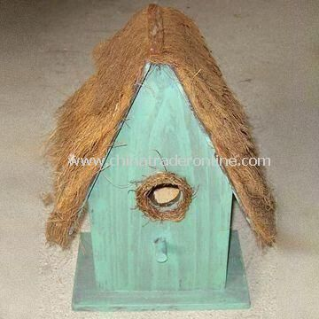 Bird House, Made of Wood, OEM and ODM Orders are Welcome from China