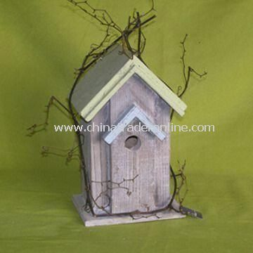 Bird House, Made of Wood and Sheet Metal, OEM/ODM Orders are Welcome