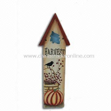 Bird House Plaque, Made of Wooden, Measures 20 x 4 x 62.25cm
