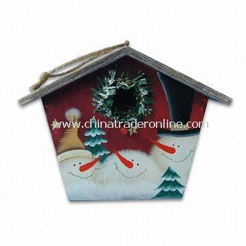 Bird Wooden House, Measures 21 x 10.2 x 16cm, Suitable for Christmas Decorations