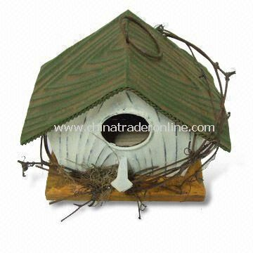 Birdhouse Standing Made of Metal, Measures 15 x 10 x 13cm from China