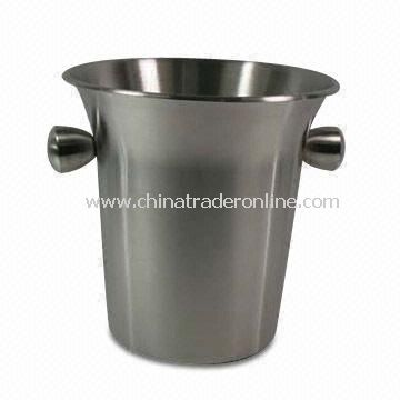Customized Ice Bucket, Made of Flared Top Stainless Steel, with Two Handles