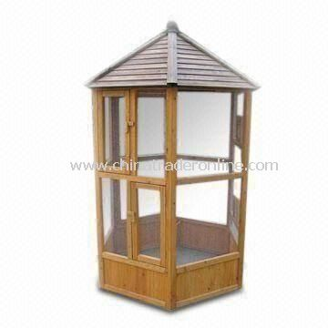 Easy to Assemble Solid Wood Birds House, Sized 1,260 x 1,260 x 1,990mm