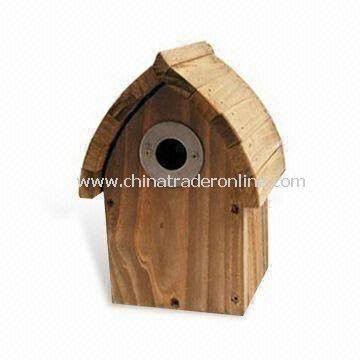 Handcrafted Bird House, Made of Wood, OEM and ODM Orders are Welcome