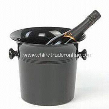 Ice Bucket, Black Acrylic Ice Bucket with Single Piece Molded Handles, Available in Various Colors