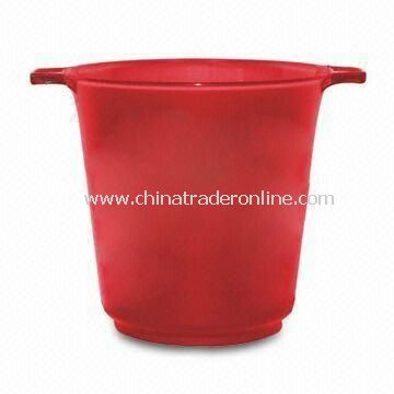 Ice Bucket, Made of Plastic, Customers Designs and Logos Available
