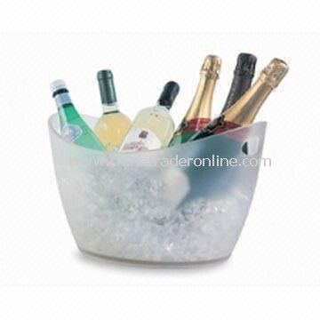 Ice Bucket, Oval-shaped, Made of Acrylic/ PC, Can Hold Up to 8 Bottles