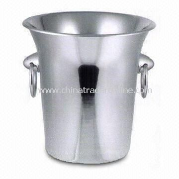 Ice Bucket for Hotels and Bars, with 20cm Height, Various Designs are Available