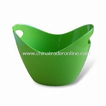 Ice Bucket in Green Color, with 4.2mm Thickness and 2 Bottles Capacity, Made of PS