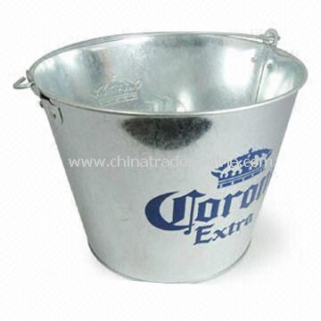 Ice Bucket/Metal Ice Bucket with 5L Capacity, Made of 0.30mm Galvanized Metal