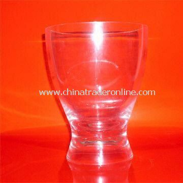 Ice Bucket with Elegant Design, Made of Clear Crystal Polycarbonate, Measures 66 x 42 x 42mm
