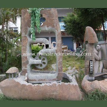 Landscape Stone Sculpture, Used for Garden, Home, and Office Decorations
