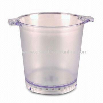 LED Ice Bucket, Available in Various Colors, Customized Logos and Printings are Welcome